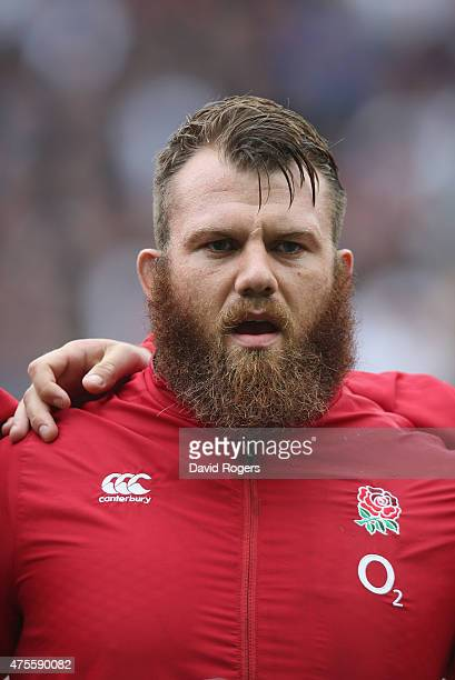 A portrait of Gareth Denman of England during the Rugby Union International match between England and the Barbarians at Twickenham Stadium on May 31...