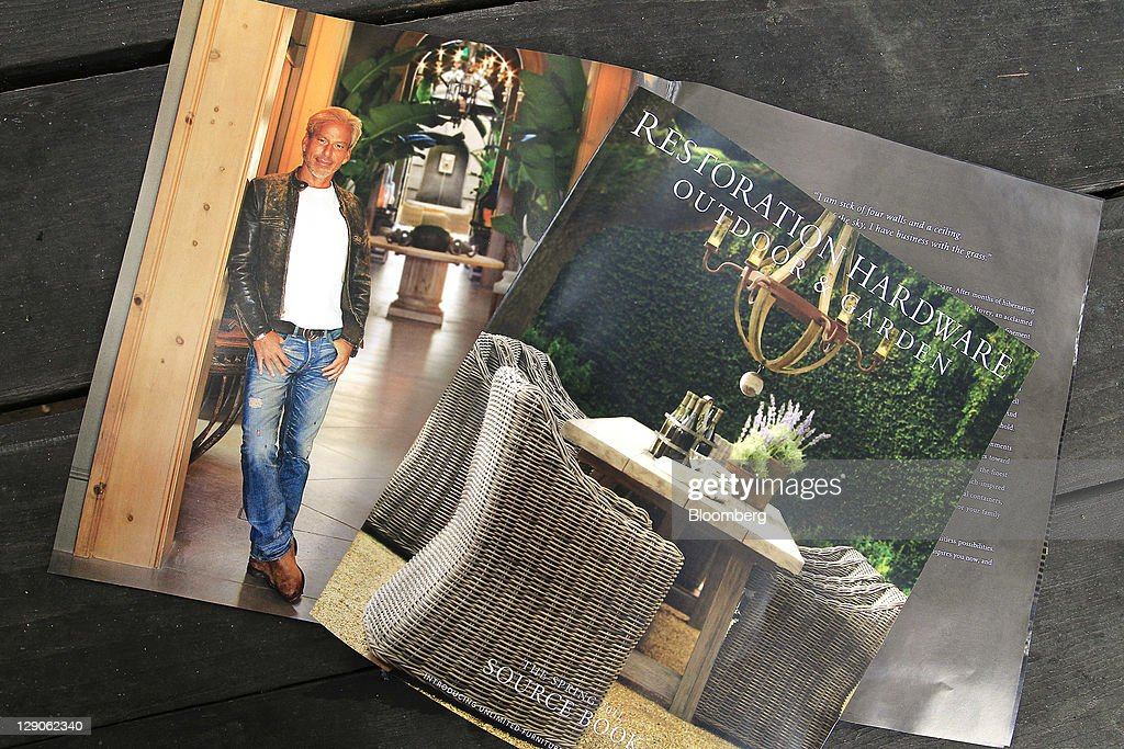 A portrait of Gary Friedman chairman and cochief executive officer of Restoration Hardware Inc appears in the retailer's fall catalog arranged for a...