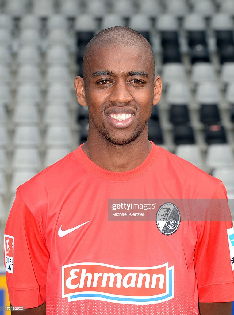 Portrait of <a gi-track='captionPersonalityLinkClicked' href=/galleries/search?phrase=Gelson+Fernandes&family=editorial&specificpeople=2971817 ng-click='$event.stopPropagation()'>Gelson Fernandes</a> taken during the SC Freiburg Team Presentation at MAGE SOLAR Stadium on July 5, 2013 in Freiburg, Germany.