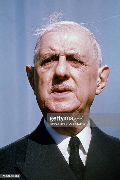 Portrait of General Charles De Gaulle Circa 1960