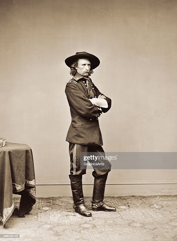 Portrait of General <a gi-track='captionPersonalityLinkClicked' href=/galleries/search?phrase=George+Armstrong+Custer&family=editorial&specificpeople=73652 ng-click='$event.stopPropagation()'>George Armstrong Custer</a>; photograph from a glass plate negative, May 23, 1865.