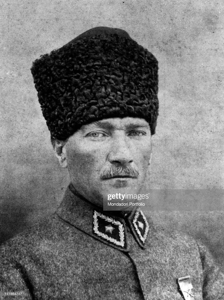 Portrait of General Mustafa Kemal Ataturk, future President of the Republic of Turkey. 6th January 1923