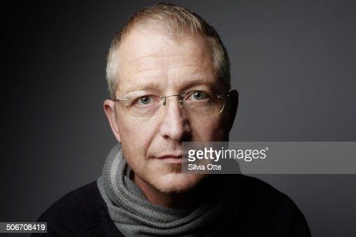 Portrait of gentle looking 46 year old male