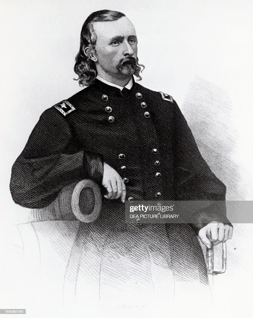 Portrait of George Armstrong Custer commander of the cavalry during the American Civil War and the Indian Wars
