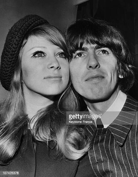 Portrait Of George Harrison And His Bride Patti Boyd At London In England On January 22Nd 1966