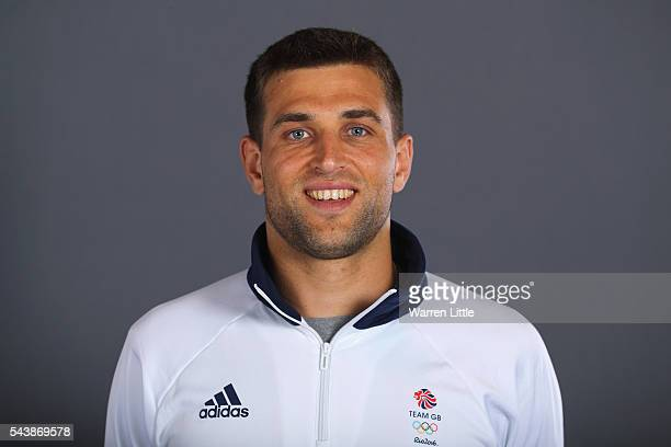 A portrait of George Pinner a member of the Great Britain Olympic team during the Team GB Kitting Out ahead of Rio 2016 Olympic Games on June 30 2016...