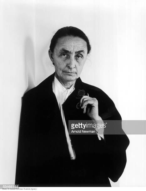 Portrait of Georgia O''keeffe American painter April 17 1944 in New York City O''Keeffe is best known for her colorful paintings of flowers and...