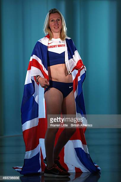 A portrait of Georgie Hermitage of Great Britain Paralympic Team ahead of the IPC Athletics World Championship at The Torch Hotel on October 16 2015...