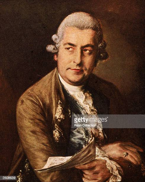 A portrait of German composer and musician Johann Christian Bach the 11th and youngest son of the composer JS Bach