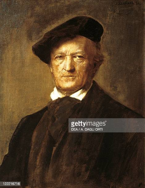 A portrait of German composer and poet Richard Wagner by Franz von Lembach 1874