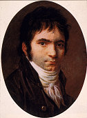 Portrait of German composer Ludwig van Beethoven after a painting by Christian Horneman 1803
