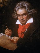 Portrait of German composer Ludwig van Beethoven by German painter Joseph Karl Stieler 1820