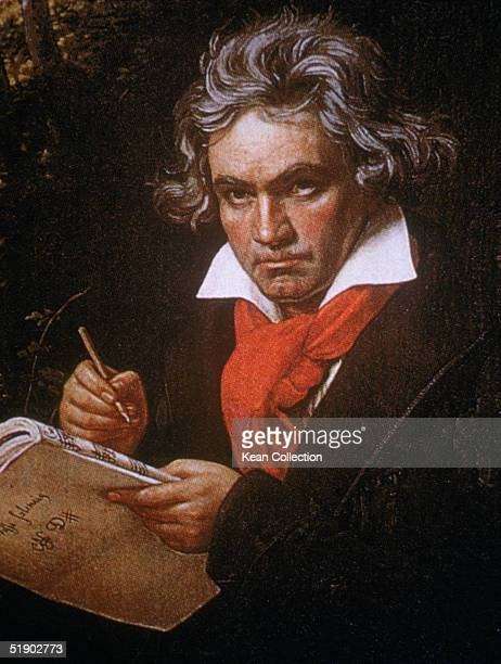 Portrait of German composer Ludwig van Beethoven by German painter Joseph Karl Stieler 1820