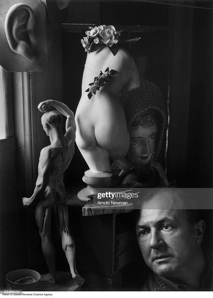 Portrait of German Expressionist painter George Grosz January 19, 1942 in Bayside in New York .