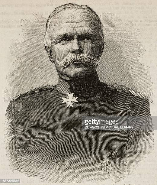 Portrait of German general and politician Leon von Caprivi illustration from Il Secolo Illustrato della Domenica Year II No 26 March 30 1890