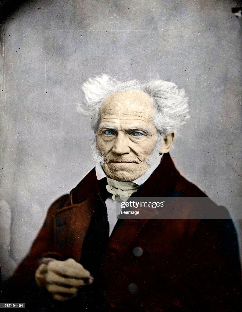 Portrait of german philosopher Arthur Schopenhauer Daguerreotype 1858 Private collection