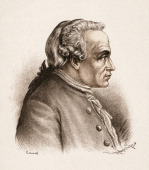 Portrait of German philosopher Immanuel Kant late 18th century