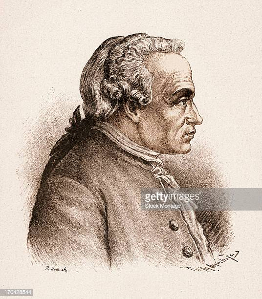 Portrait of German philosopher Immanuel Kant late 18th century