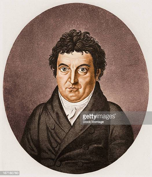 Portrait of German philosopher Johann Gottlieb Fichte early 19th century