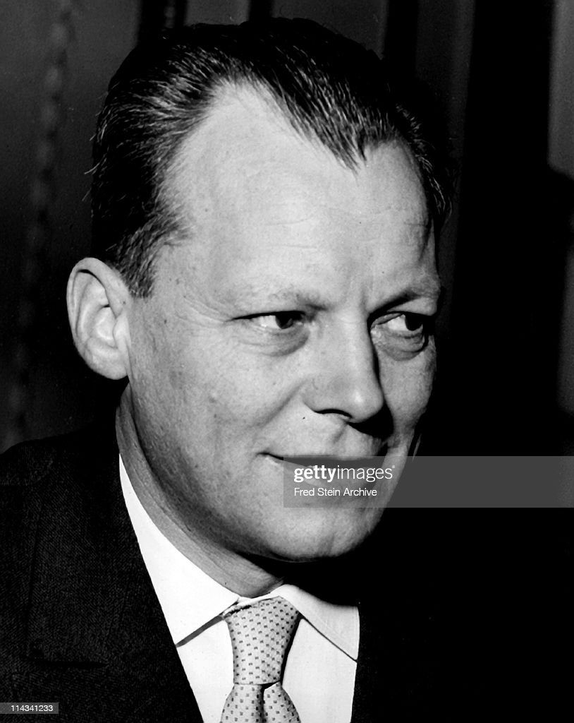 Portrait of German politician and Chancellor <a gi-track='captionPersonalityLinkClicked' href=/galleries/search?phrase=Willy+Brandt&family=editorial&specificpeople=94253 ng-click='$event.stopPropagation()'>Willy Brandt</a> (1913 - 1992), 1958.