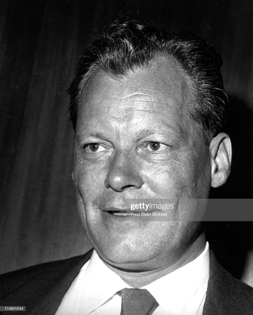 Portrait of German politician and Chancellor Willy Brandt (1913 - 1992), 1958.