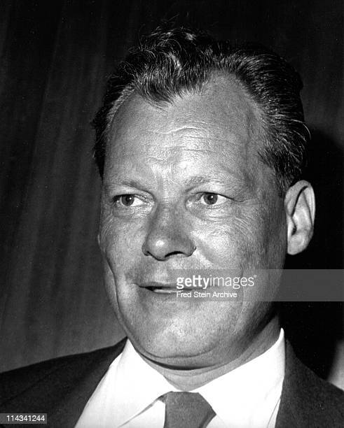 Portrait of German politician and Chancellor Willy Brandt 1958