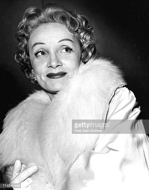 Portrait of Germanborn American actress and singer Marlene Dietrich 1957