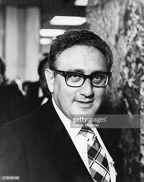 Portrait of Germanborn American diplomat and US Secretary of State Henry Kissinger New York New York September 14 1974 Kissinger was in the city to...