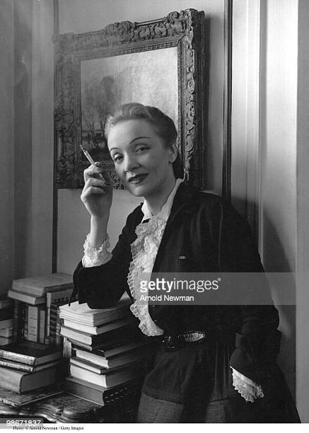 Portrait of Germanborn American singer and actress Marlene Dietrich New York New York June 2 1948