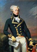 Portrait of Gilbert Motier the Marquis De La Fayette as a Lieutenant General 1791 Found in the collection of Musée de l'Histoire de France Château de...