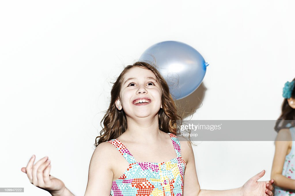 Portrait of girl celebrating : Stock Photo