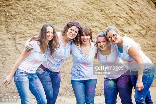 Portrait of girl friends