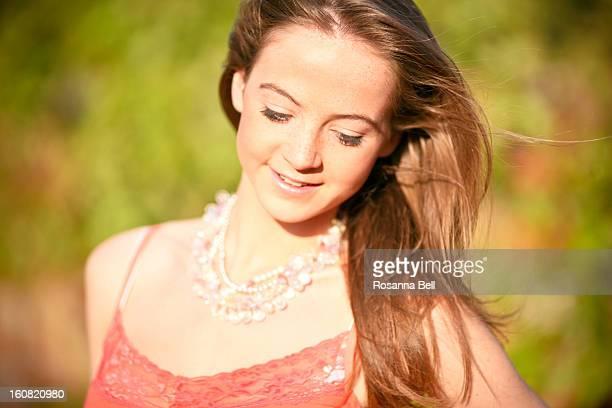 Portrait of Girl in Summer Sunshine