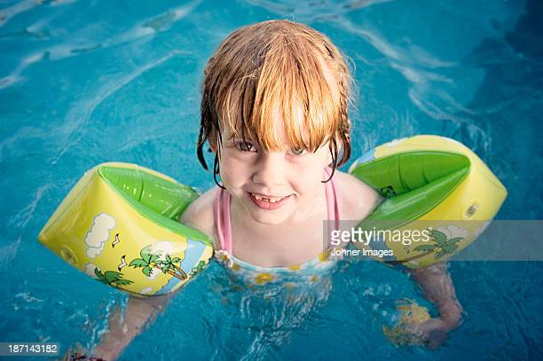 Portrait of girl in swimming pool
