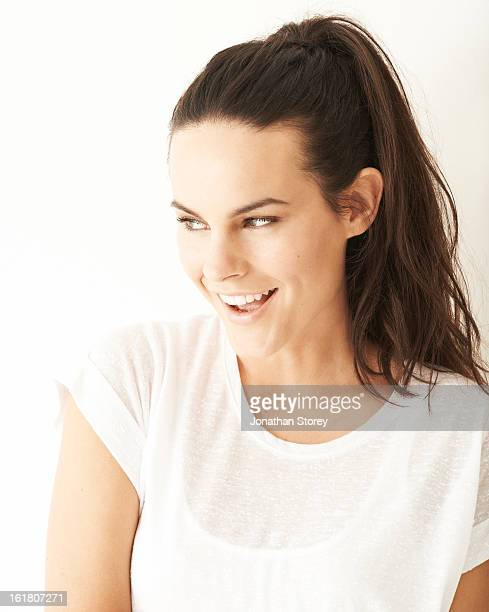 Portrait of girl in white tee-shirt