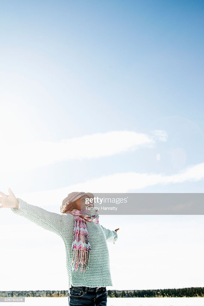 Portrait of girl (8-9) : Stock Photo