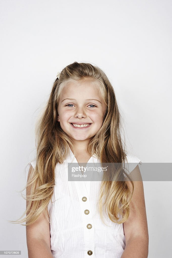Portrait of girl smiling : Stock Photo