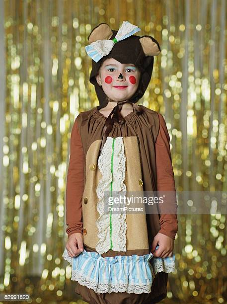 Portrait of girl wearing costume