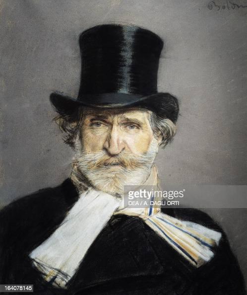 Portrait of Giuseppe Verdi Italian composer Painting by Giovanni Boldini Rome Galleria Nazionale D'Arte Moderna