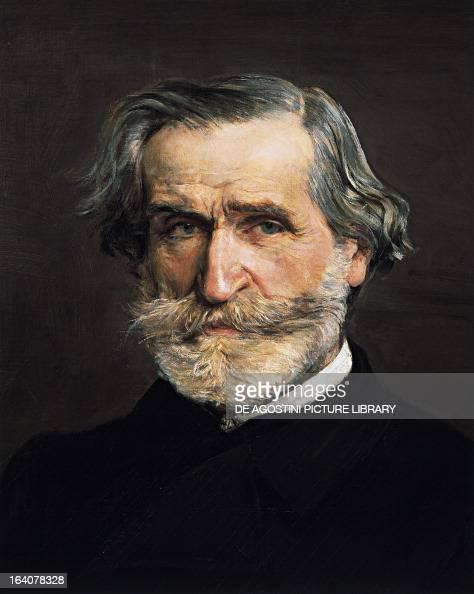 Portrait of Giuseppe Verdi Italian composer Painting by Giovanni Boldini Detail Milano Casa Di Riposo Per Musicisti Fondazione Giuseppe Verdi