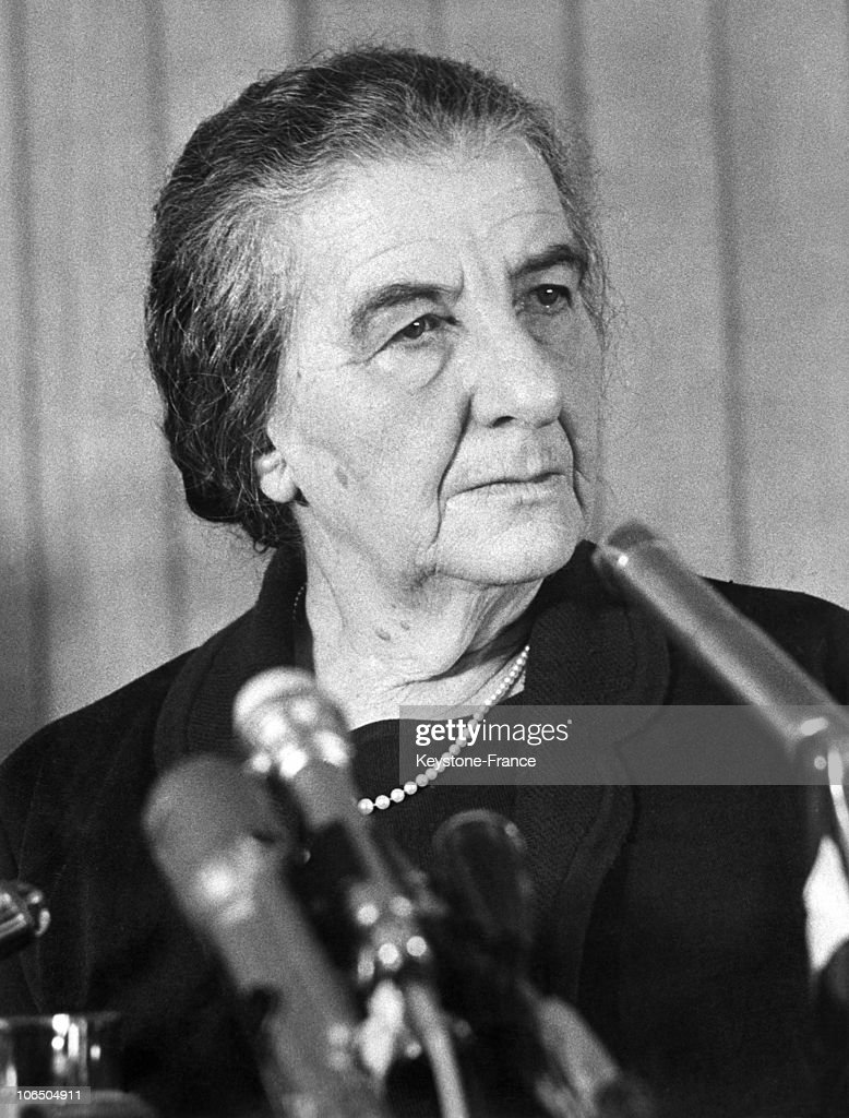 portrait of golda meir right after her appointment as israel prime minister succeding levi