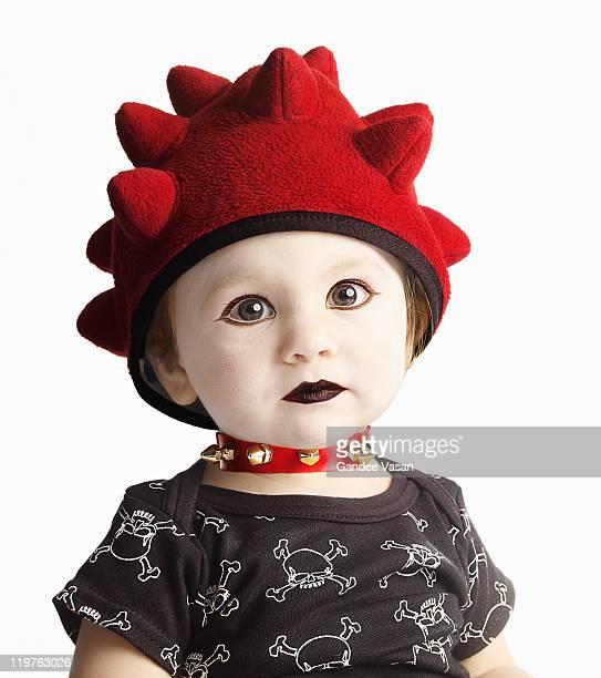 Portrait of Goth baby
