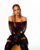 Portrait of Grammy Award winning American singer Alicia Keys New York New York 2001