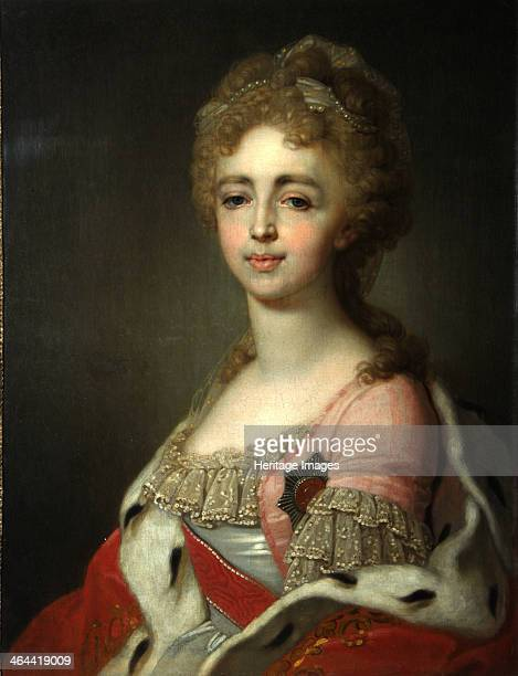 Portrait of Grand Duchess Alexandra Pavlovna Daughter of Emperor Paul I 1798 Found in the collection of the State Tretyakov Gallery Moscow