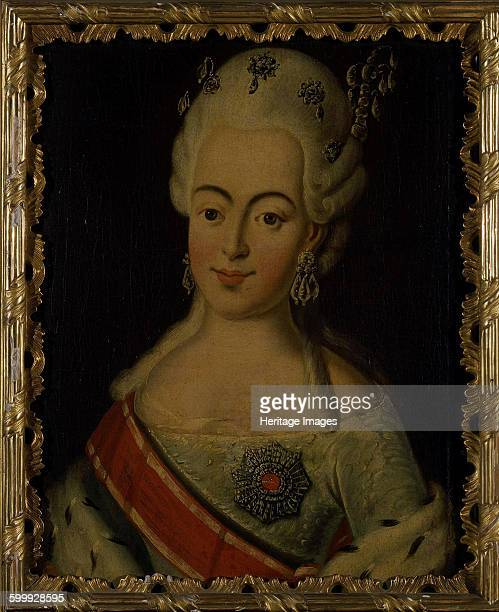 Portrait of Grand Duchess Natalia Alexeyevna of Russia Princess Wilhelmina Louisa of HesseDarmstadt 18th century Found in the collection of State...
