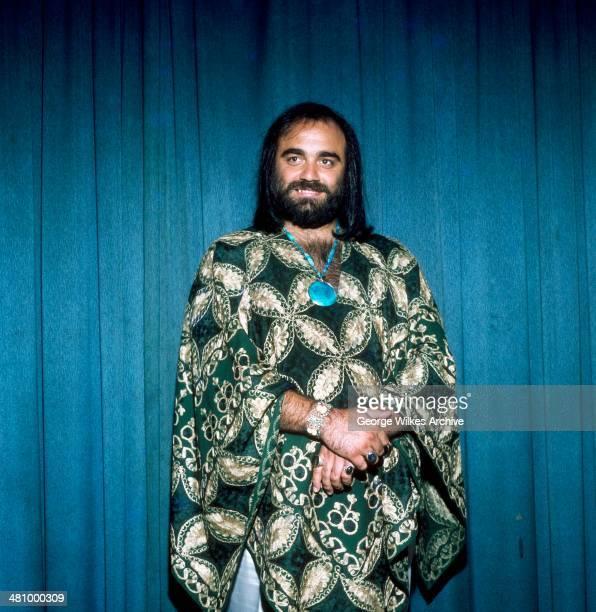 Portrait of Greek musician Demis Roussos London England 1976