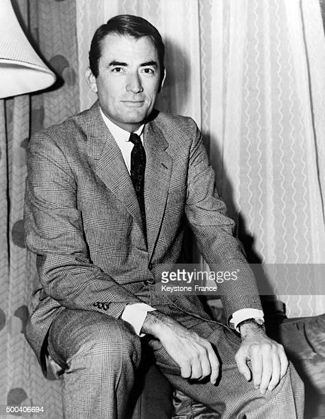 Portrait of Gregory Peck who won an award for his role in the movie 'To Kill A Mockingbird' directed by Robert Mulligan on April 9 1963 in Santa...