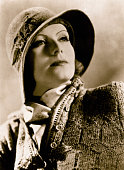 Portrait of Greta Garbo Wearing Hat