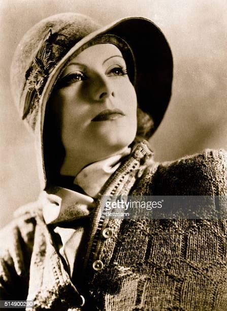 Portrait of Greta Garbo Wearing Hat