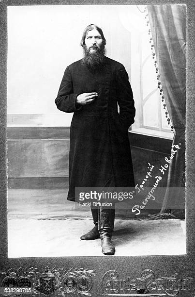 A portrait of Grigori Rasputin ca 1916 in Russia